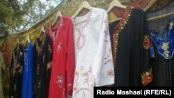 Afghanistan-Cloths made by Afghan poor woman in Jalalabad.