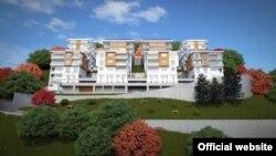 План за изградба на згради на планината Водно.