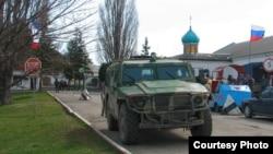Російський «Тигр» у КПП бригади (червень 2014 року)