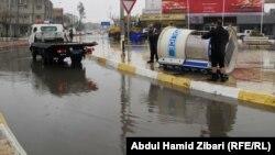 شوارع غارقة بمياه الأمطار في أربيل