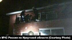 Пожар в Иркутском доме престарелых