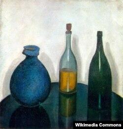 """Роберт Фальк, """"Бутылки и кувшин"""""""