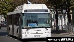 Общественный транспорт в Симферополе. 18 сентября 2017 года