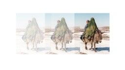 یک عضو گروه طالبان در حال زدن مردیست که تریاک همراه داشت.