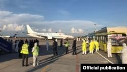 Аэропорт «Манас». 22 апреля 2020 года.