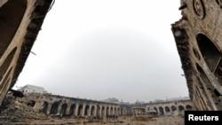 Ce a mai rămas din moscheea Umayyad. Imagine din 13 decembrie 2016