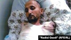Абдулло Зокиров в больничной койке