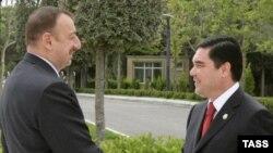 Илхам Алиев жана Гурбангулы Бердымухамедов. 2008-жыл.