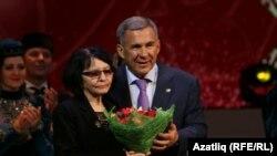 Розалина Шаһиева һәм Рөстәм Миңнеханов
