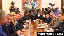 Sastanak predstavnika Republike Srpske sa državnim vrhom Srbije u Beogradu (2. jun 2021.)