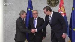 Junker, Han i Vučić u Beogradu