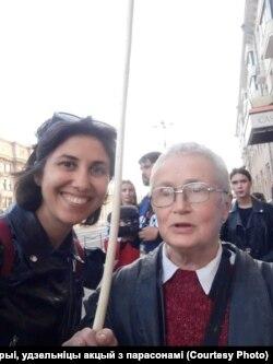 Марына зь Менска, удзельніца акцый з парасонамі разам Нінай Багінскай.