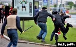Задержание на мирном протесте, Минск, 6 сентября