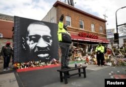 Реакция на вердикт о виновности бывшего полицейского Дерека Шовина в убийстве Джорджа Флойда. Миннеаполис