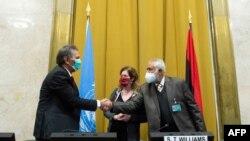 Участники переговоров о прекращении огня в Ливии, Женева, 23 октября 2020 года