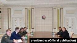 Ադրբեջանի նախագահ Իլհամ ընդունել է ՌԴ ԶՈՒ գլխավոր շտաբի պետ Վալերի Գերասիմովին, Բաքու, 7 սեպտեմբերի, 2017թ.