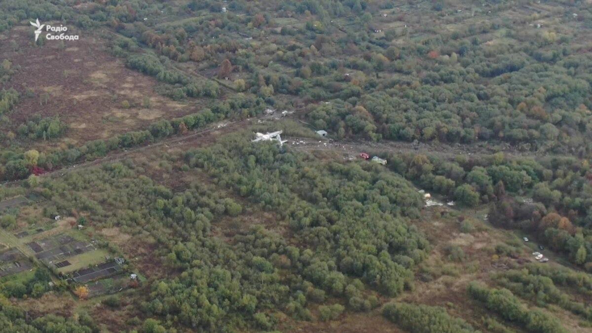 Ан-12: видео с места авиакатастрофы квадрокоптера