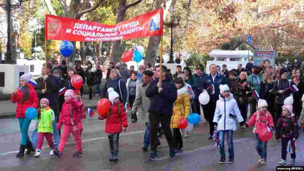В общей сложности, в демонстрации приняло участие несколько сотен человек.
