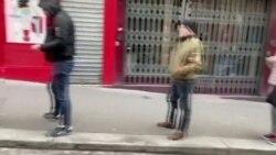 Чекање ред во Париз поради коронавирусот