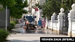 Уборка улицы
