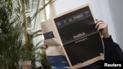 Последний номер газеты Financial Times Deutschland, 7 декабря 2012 года