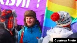 Оппозиционный активист Алексей Киселев, участник ЛГБТ-движения