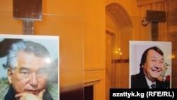 Прагадагы Ч.Айтматов менен Б.Миңжылкиевге арналган кечедеги сүрөт. 30-сентябр, 2010-ж. TCh.