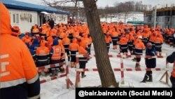 Забастовка вахтовых рабочих на острове Русский