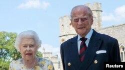 Britanska kraljica Elizabeta II. i princ Philip, 6. juni 2020.