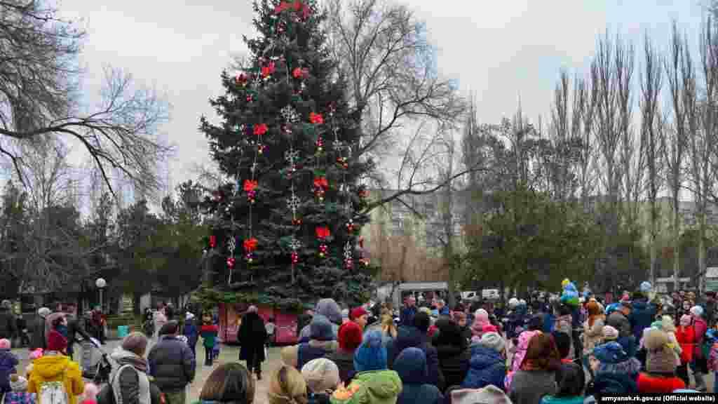 Открытие елки в Армянске