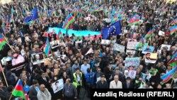 Опозициски протести во Баку.