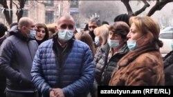 Armenia: protest al părinților soldaților cre servesc în Nagorn-Karabh, 14 ianuarie 2021