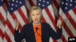 Хиллари Клинтон Сан-Диегодо сүйлөөдө. 2-июнь, 2016-жыл.