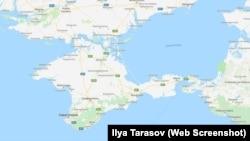 Так Крым обозначается в картах жителя Симферополя
