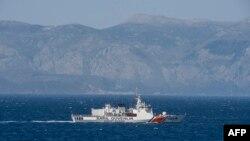 O navă de patrulare turcă în Marea Egee