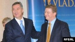 Milo Đukanović i Stefan Fuele Foto:Savo Prelević