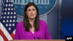 سارا هاکبی سندرز، سخنگوی کاخ سفید