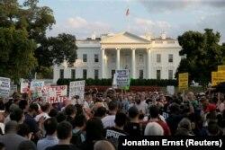 Мітинг біля Білого дому. Вашингтон, 13 серпня 2017 року