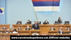 Predsjedavajući Predsjedništva Bosne i Hercegovine, Milorad Dodik na posebnoj sjednici Skupštine Republike Srpske (RS), 10 marta 2021.