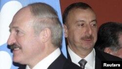 A.Lukashenka və İlham Əliyev