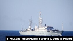 Российский разведывательный корабль «Приазовье», сопровождавший украинские ВМС во время спецоперации