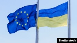 Украина менен ЕБ желектери.