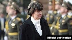 Мишлин Кальми-Рей в качестве президента Швейцарии посещает Армению, Ереван, 31 марта 2012 г.