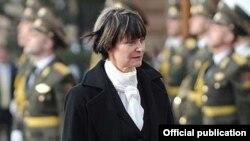Միշլին Քալմի-Ռեյը որպես Շվեյցարիայի նախագահ այցելում է Երեւան, 31-ը մարտի, 2011թ.