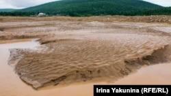 Река Большая Мурожная рядом с поселком Партизанский в Красноярском крае