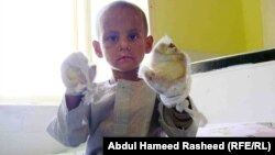 Four-year-old Farid was sold by his mother to a relative eight months ago.