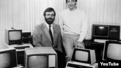 Основатели Microsoft Поль Аллен и Билл Гейтс