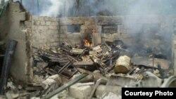 Ուկրաինա - Մարտական գործողությունների պատճառած ավերածությունները Լուգանսկում, հուլիս, 2014թ․
