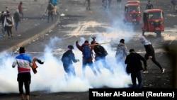 صحنهای از اعتراضهای بغداد در ۳۰ دی ماه ۹۸
