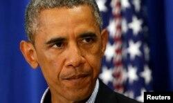 Барак Обама делает заявление о действиях США в Ираке.